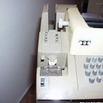 Teletype ASR 33 paper tape punch and reader