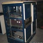 Data General disk drive and 6026 tape drive cabinet in the storage location at Lund's University