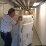 Me and Tobbe moving the MV/8000 CPU