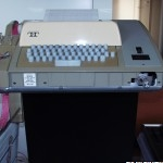 Teletype ASR 33 with missing nameplate